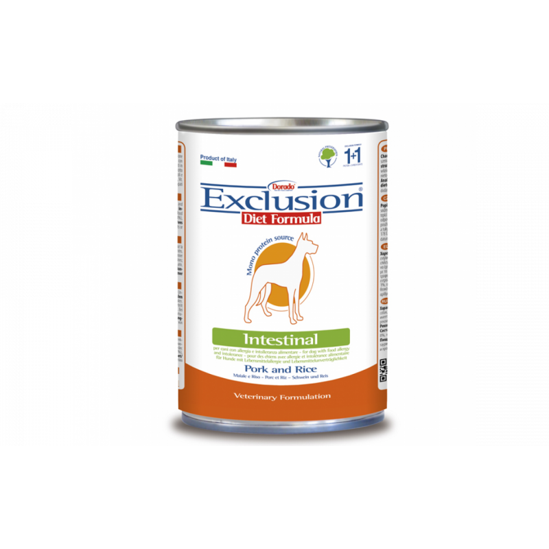 Exclusion Diet Intestinal Dog Maiale E Riso 400Gr