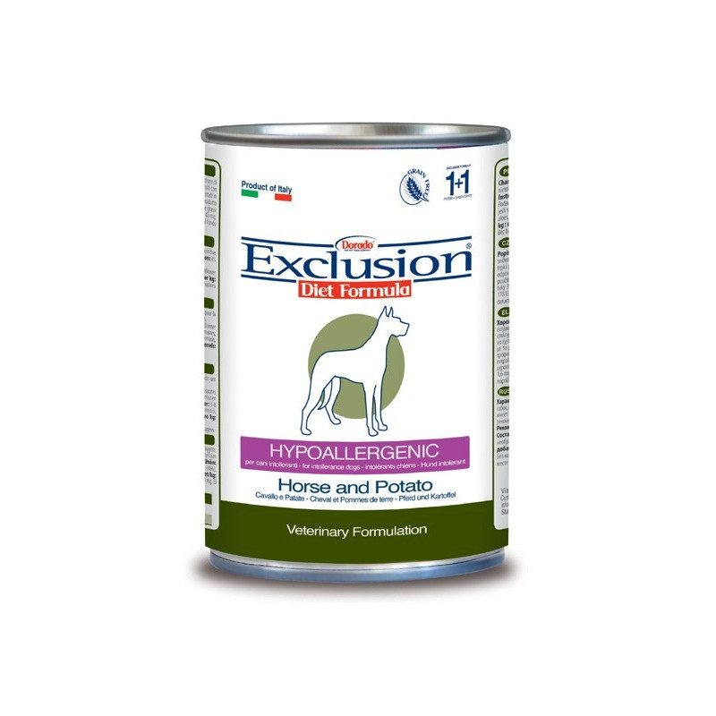 Exclusion Diet Hypoallergenic Dog Cavallo E Patate 400Gr