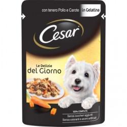 Cesar Bustina Delizie del Giorno con Pollo e Carote in Gelatina 100 Gr