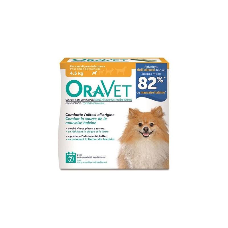 Oravet Chew Dog Xs Fino A 4,5 Kg. 7 Pz.