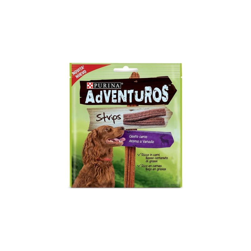 Snack Purina Adventuros Strips Cervo...