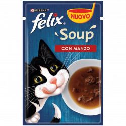 Purina Felix Soup Manzo 48Gr