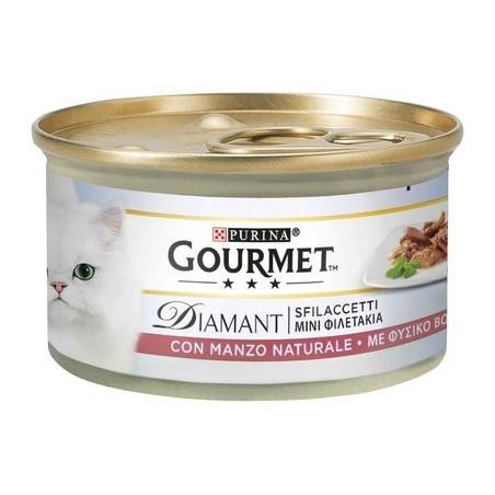 Purina Gourmet Diamant Cat Sfilaccetti Manzo 85Gr