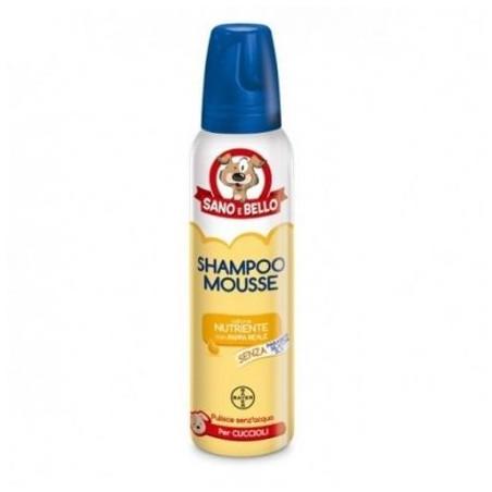 Bayer Sano & Bello Shampoo Mousse Pappa Reale Per Cuccioli 300 Ml