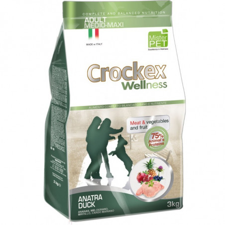 Crockex Wellness Cane Adult Medium Maxi Pollo Kg 12