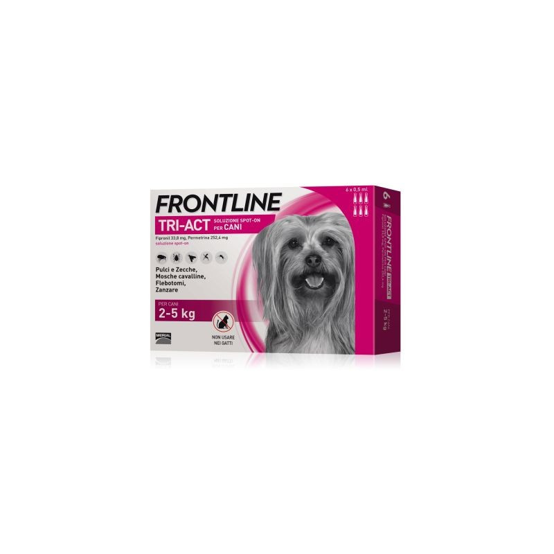 Frontline Tri-Act*3 Pipette 0,5 Ml 2-5 Kg