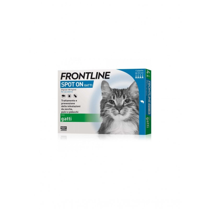 Frontline Spoton Gatto *4 Pipette 0,5 Ml