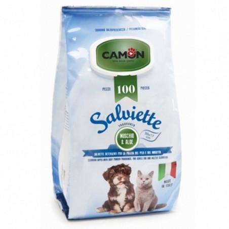 Camon Salviette Muschio e Aloe Maxi Formato 100 pz
