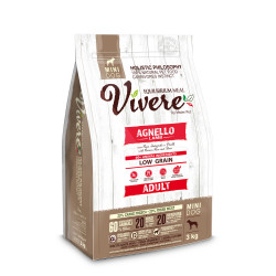 Vivere Low Grain Adult Gluten Free Agnello Mini 3 Kg