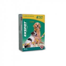 Exspot Soluzione Antiparassitaria Spot-On Cani 2,5-40 Kg 6 Pipette