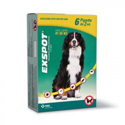 Exspot Soluzione Antiparassitaria Cani 41-55 Kg 6 Pipette