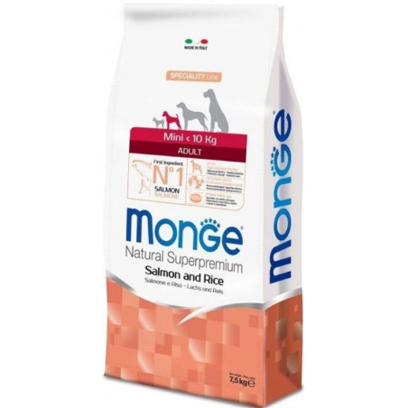 Monge Natural Superpremium Dog Mini Adult Salmone Riso 7,5 Kg