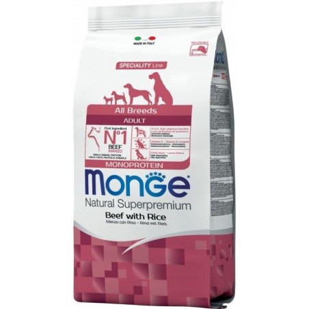 Monge Natural Superpremium Dog All Breeds Adult Manzo Riso 12 Kg