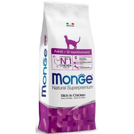 Monge Natural Superpremium Cat Adult Pollo 10 Kg