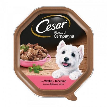 Cesar Ricette Campagna In Salsa Vitello e Tacchino 150 Gr