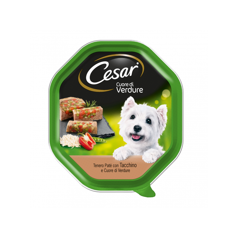 Cesar Cuor Di Verdure Tacchino 150 Gr