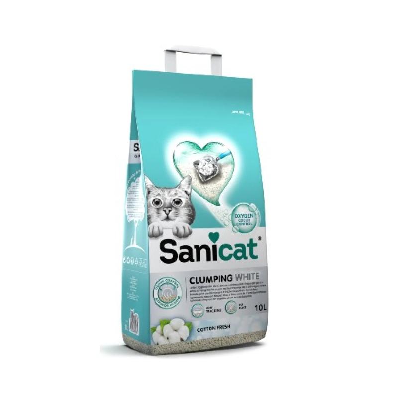 Lettiera Sanicat Clumping White Cotton Fresh