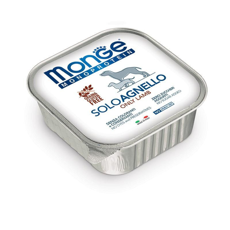 Monge Cane 100% Solo Agnello 150 Gr