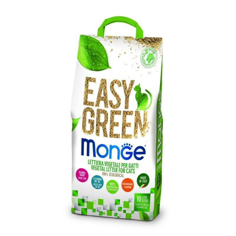 Lettiera Monge Easy Green Biodegradabile 10 Lt
