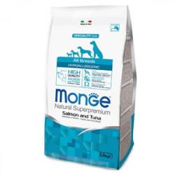 Monge Natural Superpremium All Breeds Crocchette Hypoallergenic Salmone e Tonno