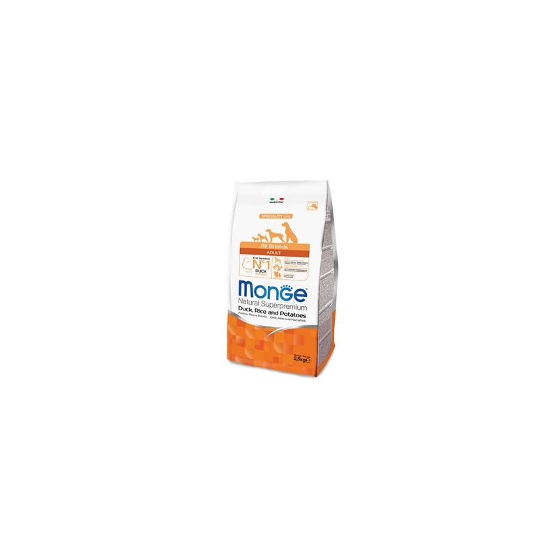 Monge Natural Superpremium All Breeds Crocchette Adult Anatra, Riso e Patate