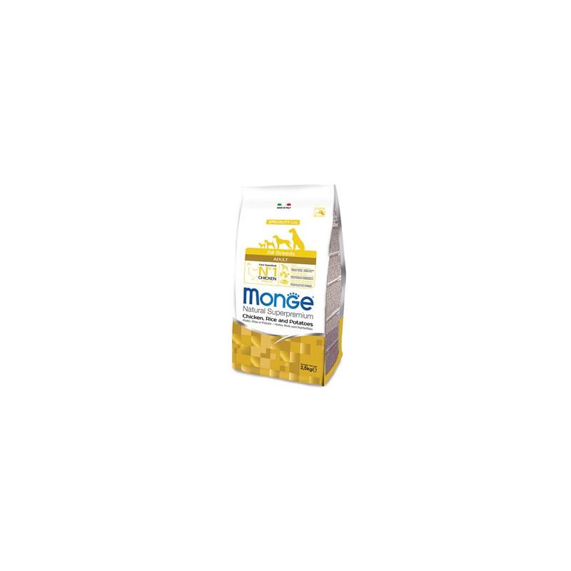 Monge Natural Superpremium All Breeds Crocchette Adult Pollo, Riso e Patate