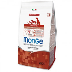 Monge Natural Superpremium All Breeds Crocchette Puppy & Junior Agnello e Riso