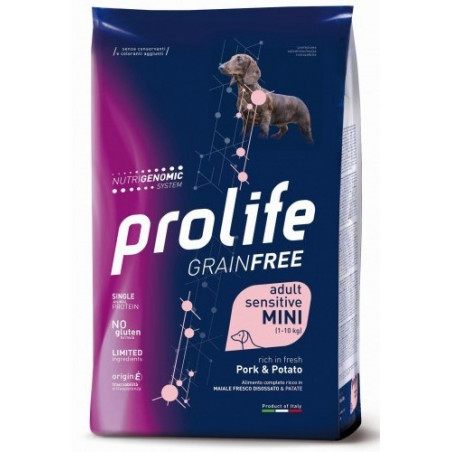 Prolife Sensitive Grain Free Adult Mini Large Maiale e Patate 7 Kg