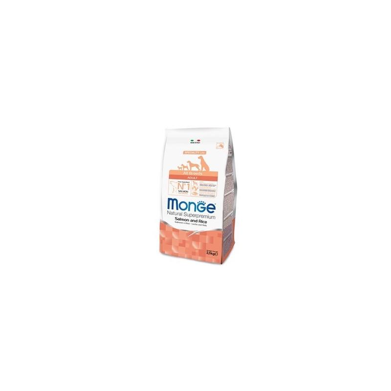 Monge Natural Superpremium All Breeds Dog Mini Adult Salmone Riso 2,5 Kg