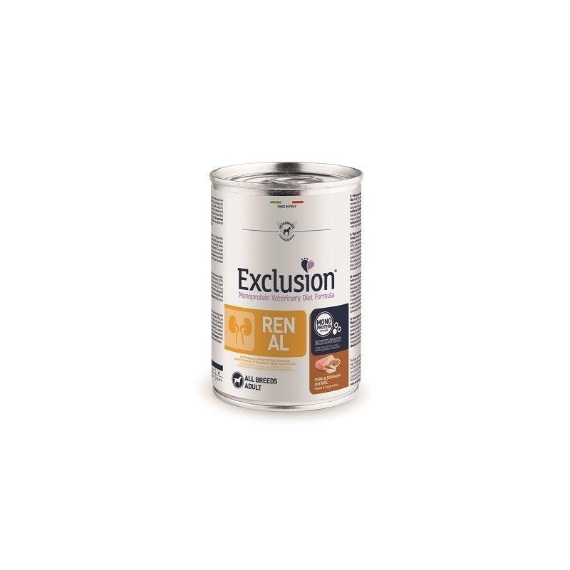 Exclusion Vet Diet Monoprotein Renal Maiale E Sorgo 400 Gr