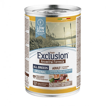Exclusion Ancestral Pollo Maiale Salmone 400 Gr