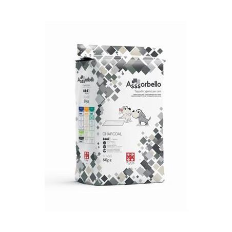 Ferribiella Assorbello Charcoal Traversine 60X60 50Pz